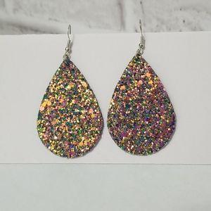 New 3/$20 Glitter Statment Earrings